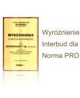 Wyróżnienie Norma PRO - INTERBUD