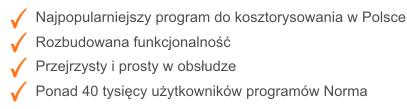 Zalety programu Norma PRO