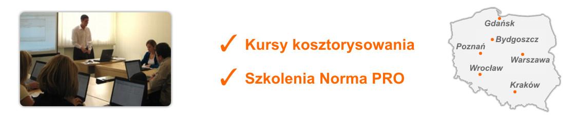 Norma PRO, Kurs kosztorysowania Warszawa Wrocław Poznań Gdańsk Bydgoszcz